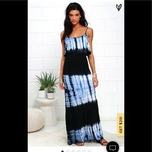 Beautiful LULU's  tie dye maxi dress